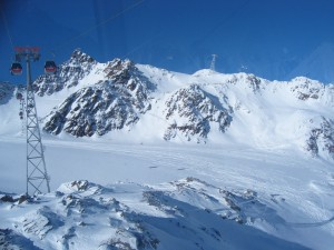 Alpenblick im Sonnenschein